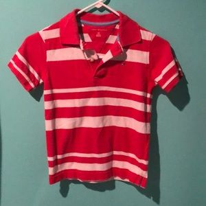 Boys Tommy Hilfiger polo red size 6/7